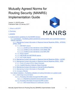 MANRS Implementation Guide